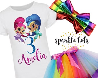 Shimmer And Shine Birthday Outfit Etsy
