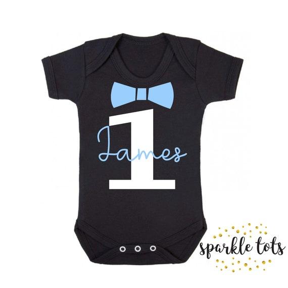PERSONALISED New Baby Bodysuit//Baby Grow//Vest Birthday Present//Gift 1ST BIRTHDAY