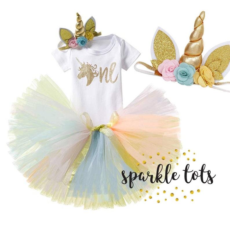 3632e518b5e67 Girls 1st birthday unicorn baby outfit unicorn cake smash | Etsy