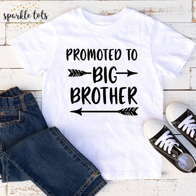 Promoted to big brother Brother shirt Sibling Shirt Big image 0