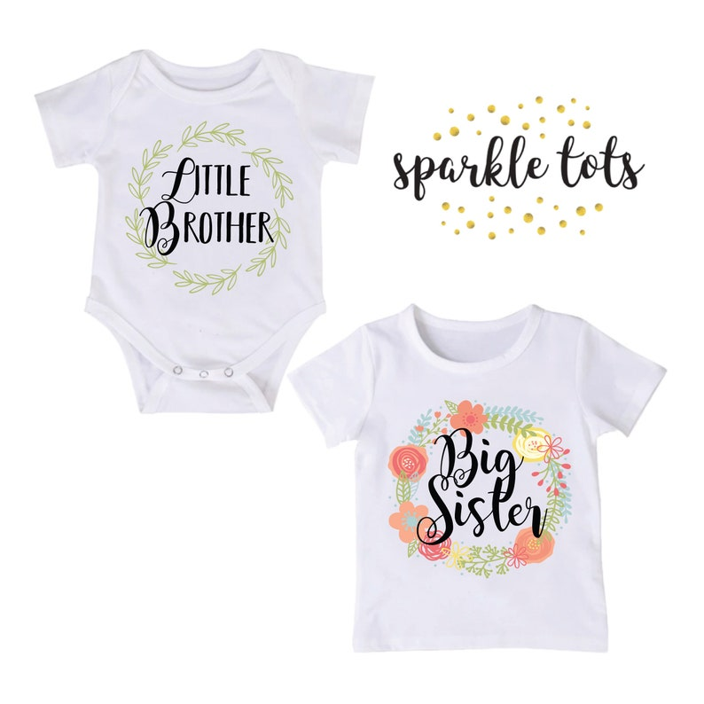 288ede7b0 Little brother big sister shirts Matching sister brother   Etsy