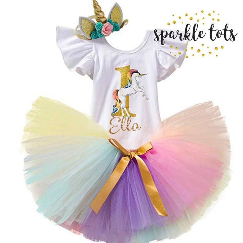 88b8ead2a2804 1st birthday unicorn outfit Unicorn tutu set Personalised | Etsy