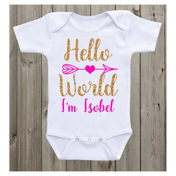 Unisex Gift 2019 Welcome To The World Baby Clothing Personalised Baby Vest