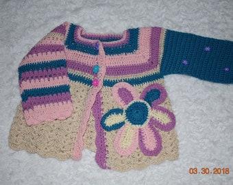 Crochet sweater for Girl