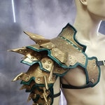 Leather Armor Spiked Barbarian Shoulder
