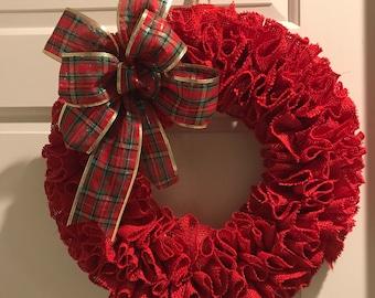 holiday burlap wreath Christmas Burlap Wreath Christmas Chevron Burlap Wreath Merry Christmas Wreath wreath for door Winter Wreath