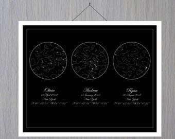 Custom Sky Map, Wedding day, Custom Sky Print, Constellation Map, Star Map By Date, Star Map Personalized, Sky Map Poster Space,  Mother Day