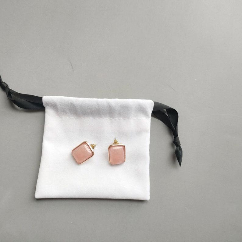 100 Pcs Bulk Jewellery Bags Print Your Logo,Personalized Jewelry Pouches,White Jewelry Bags Personalized,Soft Velvet Pouches  Lace String