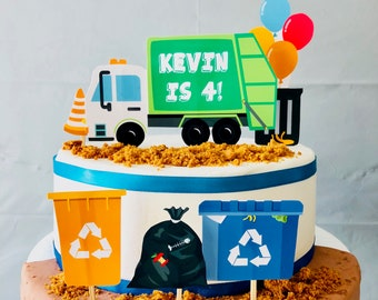 Surprising Garbage Truck Cake Etsy Funny Birthday Cards Online Amentibdeldamsfinfo