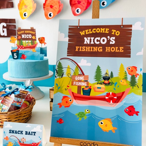 Fishing Welcome Sign Fishing Party Sign Printable Fishing Welcome Sign Fishing Birthday Welcome Sign Fishing Birthday Party