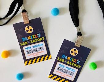 Mad Science Lab Access Card EDITABLE Printable