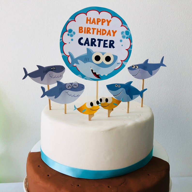 Super Simple Songs Baby Shark Cake Topper Birthday Cake Etsy