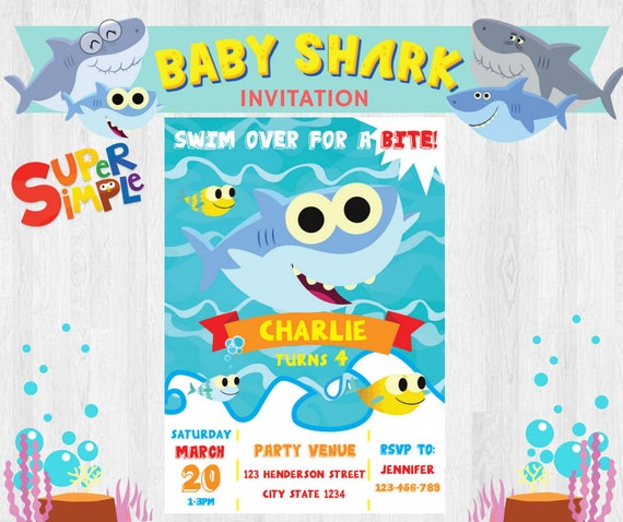 Super Simple Songs Baby Shark EDITABLE Birthday Party