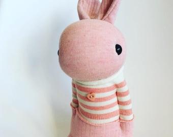 Soft Pink Japanese style Sock Bunny