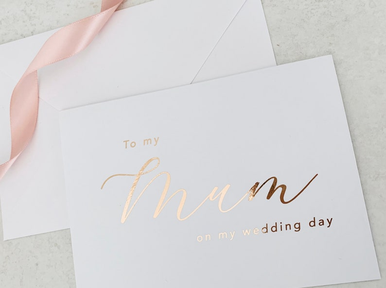 Styled Gold Wedding Cards To My Mommy Wedding Card Gold Foil To My Mommy Card To My Mommy