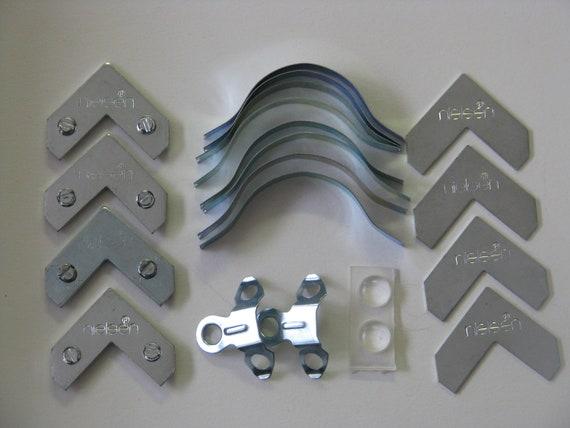 12 Pack Tapped Corners w//Back Plates Metal Frame Hardware Nielsen® Brand