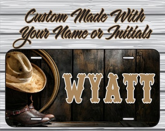 COWGIRL TOUGH COW GIRL License Plate Frame