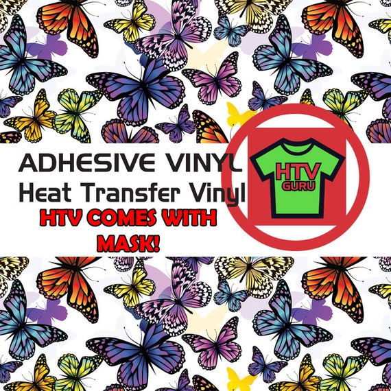Floral Butterfly Printed HTV Pattern Vinyl Sheets Heat Transfer Iron On Sheets