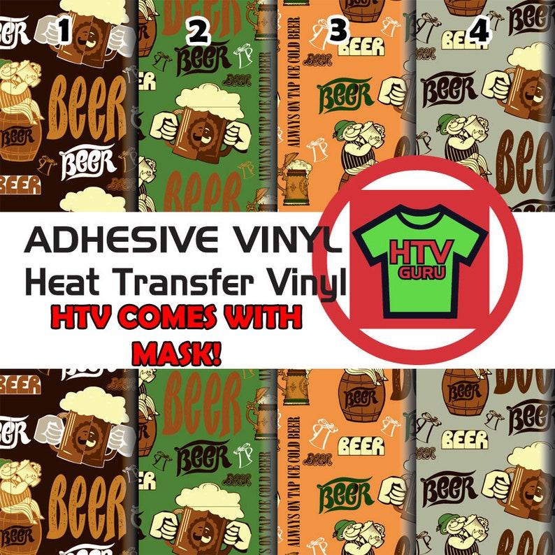 Beer Pub Printed Patterned HTV /& Vinyl Sheets Heat Transfer Vinyl Sheets