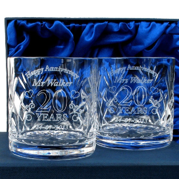 Mr & Mrs Whisky Crystal Glasses