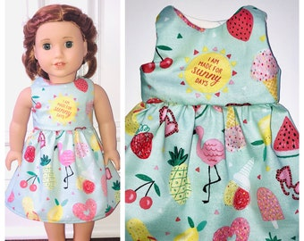 "84da1b99c68b0 Sunny Summer Days Doll Dress/18"" Doll Clothes/18"" Doll Dress/18 inch Doll  Clothes/18 inch Doll Dress/Summer Doll Dress"