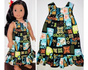 """c745752b6d552 18"""" Doll Clothes/Hawaiian Muu Muu Doll Dress/18"""" Doll Dress/Nanea Doll  Dress/Kanani Doll Dress/18 inch Doll Clothes/Hawaii Life Doll Dress"""