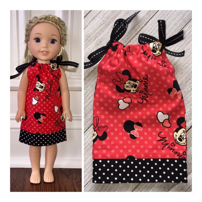 "Polka Dot 3pc Dress Set Fits Wellie Wishers 14.5/"" American Girl Clothes"
