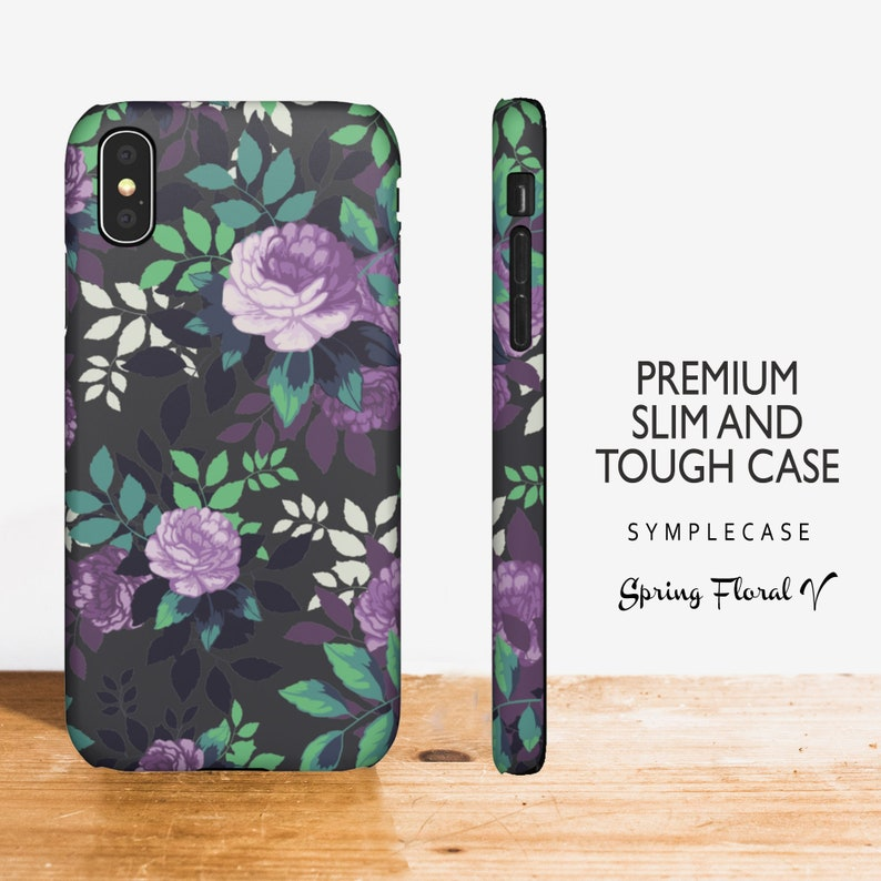 4e33d6bff3c4a Protective Tough Floral iPhone Xs Max, Xr, 8 Plus, Google Pixel 2 XL,  Samsung Note 9 Note 8 S9 S8 Plus, LG G7, V30, Huawei P9 Lite, P10 Plus