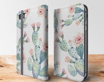 Cactus Iphone Wallet Phone Case, Flip Case For Iphone 8 Plus, Iphone 7 Plus, Samsung Galaxy S10, Galaxy S9, Galaxy S8, Iphone Xs