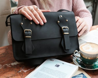 47f6fb880c2d Black Crossbody leather bag