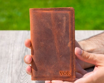 men wallet, men wallet gift, passport cover, personalized passport wallet, passport cover leather, custom distressed leather wallet...