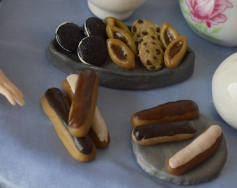 Eclairs & miniature Biscuits for dolls