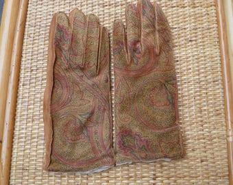 Guanti camoscio-Guanti donna-Guanti vintage-Guanti invernali-Moda-Fashion-Guanti in pelle