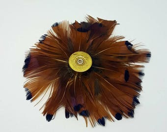 Feather Brooch I Wedding I Suit accessories I Hunt