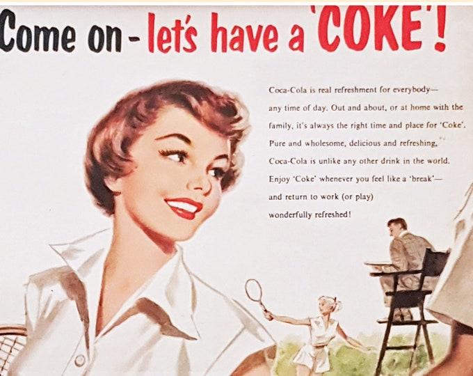 Vintage advertising print: Coca Cola