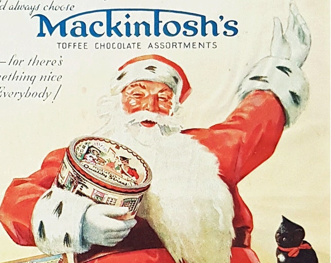 Vintage Mackintosh's Toffees ad for Christmas
