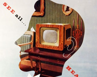 Vintage advert for GEC TV and Radio