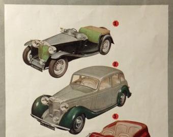 MG car vintage advertisement