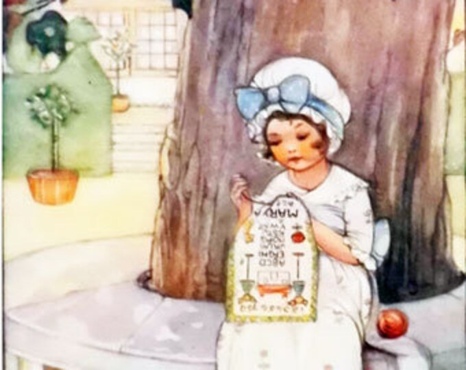 Vintage children's print, illustrated by Mabel Lucie Attwell