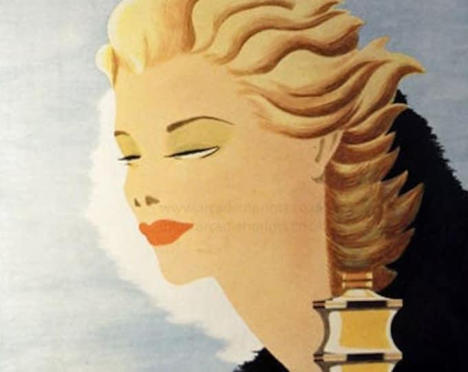 Vintage advertising print: Guerlain perfume