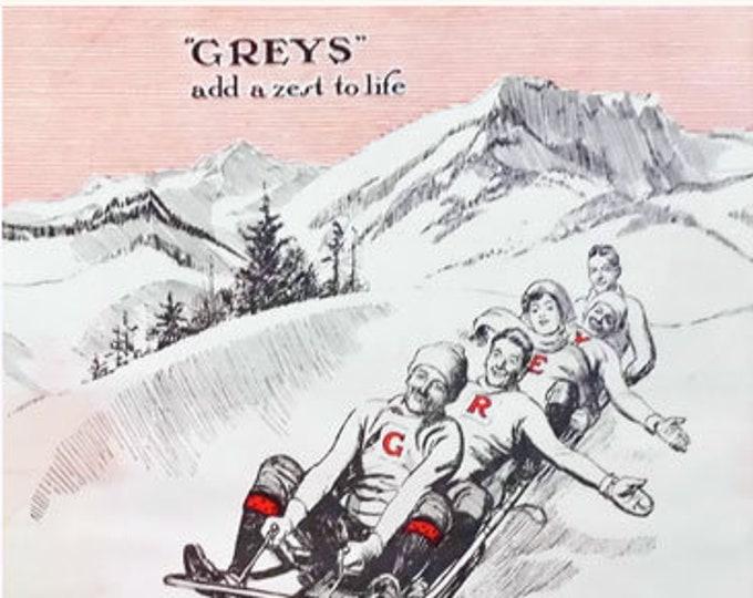 Vintage ad for Greys Cigarettes