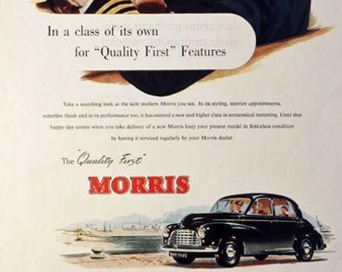 Vintage advertising print: Morris car