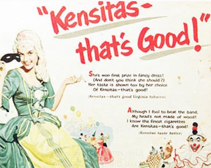 Kensitas cigarettes vintage advert