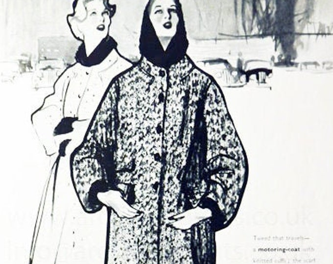 Vintage fashion advert for Jaegar