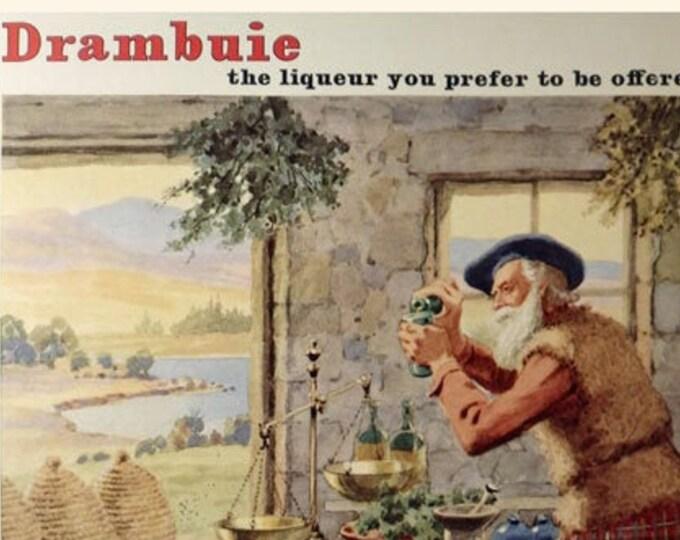 Vintage advertising print: Drambuie