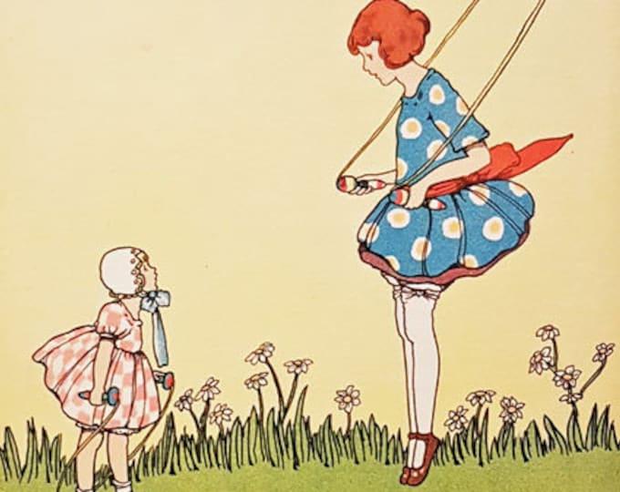 Vintage Nursery print, illustrated by Marjorie Slade