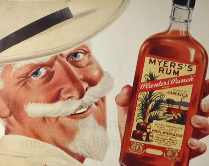 Vintage advertising print: Myers's Rum