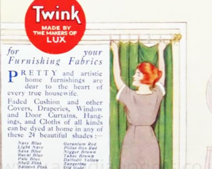 Vintage advert for Twink