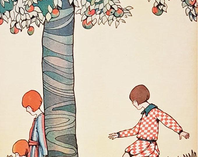 Vintage children's print illustrated by Marjorie Slade