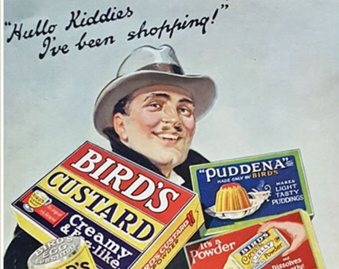Vintage advertising print: Bird's Custard and other goodies
